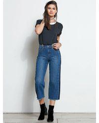 Volcom Tux Crop Jeans - Navy Paint - 24 - Blue