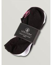 Volcom Stones No Show Sock 3 Pack - Black