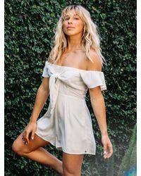 Volcom Coco Short Sleeve Romper - White