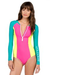 Volcom Simply Solid Bodysuit - Pink