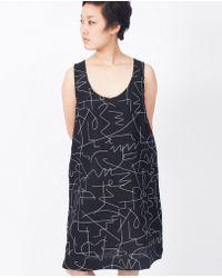 Dusen Dusen - Notch Tank Dress / Black Wire - Lyst
