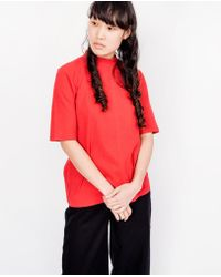 Kowtow - Building Block Ladder Rib Fitted Top / Red - Lyst