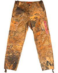 Heron Preston Pantaloni Cargo Camo - Arancione