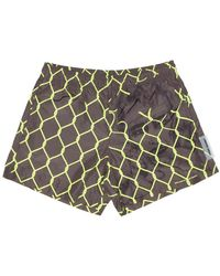 Off-White c/o Virgil Abloh Broken Fence Swimshorts - Multicolor