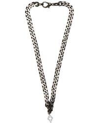 Marcelo Burlon Cross Necklace - Black