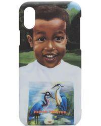 Heron Preston Iphone Xs Baby Heron Case - Blue