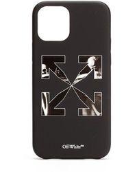 Off-White c/o Virgil Abloh Iphone 12/12 Pro Caravaggio Arrow Case - Black