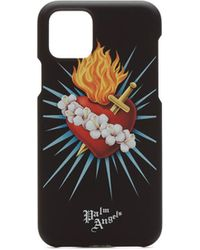 Palm Angels Iphone 11 Pro Sacred Heart Case - Black