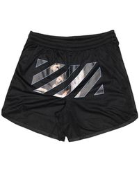 Off-White c/o Virgil Abloh Caravaggio Angel Mesh Shorts - Black