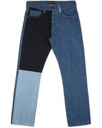 Gosha Rubchinskiy - Navy Blue Patchwork Jeans - Lyst