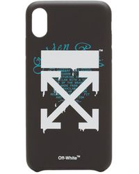 Off-White c/o Virgil Abloh Cover iPhone XS MAX - Nero