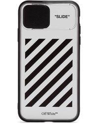 Off-White c/o Virgil Abloh Diag Slide Iphone 11 Case - White