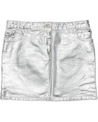 1017 ALYX 9SM Foil Denim Skirt - Metallic