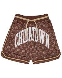 Chinatown Market Smiley Short Pants - Brown