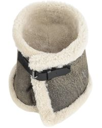 V.sp Reversible Shearling Neckwarmer With Buckle - Multicolor