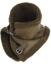 V.sp Reversible Shearling Neckwarmer With Buckle - Brown