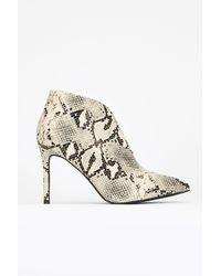 Wallis **stone Snake Print Stiletto Shoe Boot - Multicolour