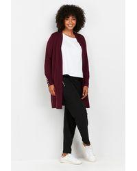 Wallis Purple Wool Blend Cardigan