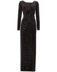 Wallis - Rose Gold Shimmer Maxi Dress - Lyst