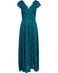 Wallis **jolie Moi Dark Teal Lace Maxi Dress - Blue