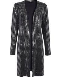 Wallis Black Shimmer Sequin Jacket