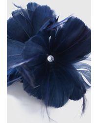 Wallis Navy Flower Clip Fascinator