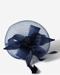 Wallis Navy Feather Bow Fascinator - Blue
