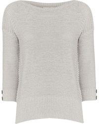Wallis Petite Grey 3/4 Sleeve Jumper