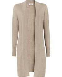 Wallis Stone Wool Blend Cardigan - Natural