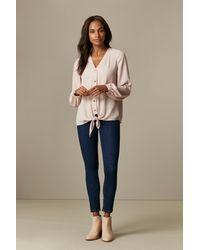 Wallis Blush Tie Front Shirt - Pink
