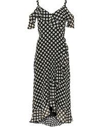 Wallis Black Polka Dot Print Ruffle Hem Midi Dress