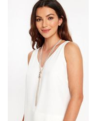 Wallis - Ball And Chain Lariat Necklace - Lyst