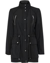 Wallis Black Funnel Neck Coat