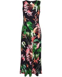Wallis **tall Black Tropical Print Maxi Dress