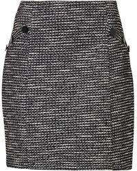Wallis Monochrome Jacquard A-line Skirt - Black