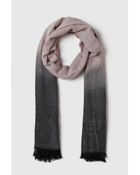 Wallis - Pink Ombre Metallic Shimmer Fabric Scarf - Lyst