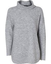 Wallis - Grey Roll Neck Jumper - Lyst