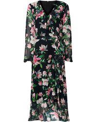 Wallis **tall Floral Print Tiered Midi Dress - Black