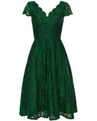 Wallis - **jolie Moi Green Cap Sleeve Dress - Lyst