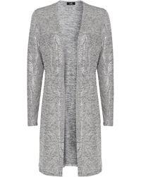 Wallis Silver Metallic Longline Jacket