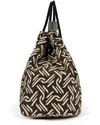Warehouse - Monogram Jacquard Duffle Bag - Lyst