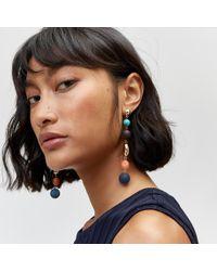 Warehouse - Coloured Pebble Drop Earrings - Lyst