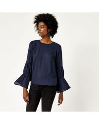 Warehouse   Dobby Lace Insert Top   Lyst