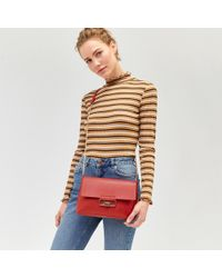 Warehouse - Kick High Rise Cropped Jeans - Lyst