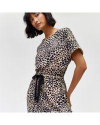 Warehouse - Cheetah Print Halter Dress - Lyst