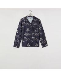 Warehouse Woodland Pyjama Top - Blue