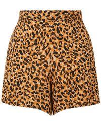 Warehouse Leopard Pyjama Shorts - Multicolour