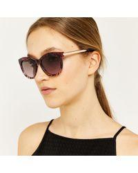 Warehouse - Animal Print Cateye Sunglasses - Lyst
