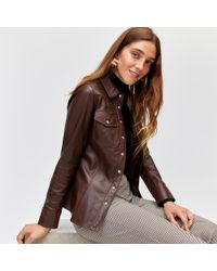 Warehouse - Leather Western Shirt - Lyst