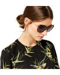 Warehouse - Rounded Metal Arm Sunglasses - Lyst